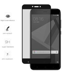 Protector Cristal Templado Frontal Completo Negro para Xiaomi Redmi 4X Vidrio