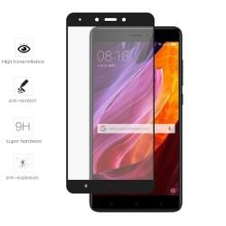 Protector Cristal Templado Frontal Completo Negro para Xiaomi Redmi Note 4X / Note 4 Version Global Vidrio