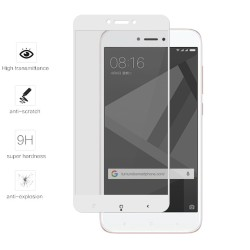 Protector Cristal Templado Frontal Completo Blanco para Xiaomi Redmi 4X Vidrio