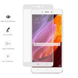 Protector Cristal Templado Frontal Completo Blanco para Xiaomi Redmi Note 4X / Note 4 Version Global Vidrio
