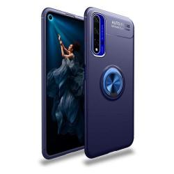 Funda Magnetica Soporte con Anillo Giratorio 360 para Huawei Nova 5T / Honor 20 Azul