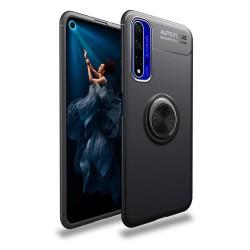 Funda Magnetica Soporte con Anillo Giratorio 360 para Huawei Nova 5T / Honor 20 Negra