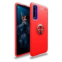 Funda Magnetica Soporte con Anillo Giratorio 360 para Huawei Nova 5T / Honor 20 Roja