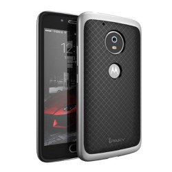 Funda Tipo Neo Hybrid (Pc+Tpu) Negra / Plata para Lenovo Moto G5 Plus