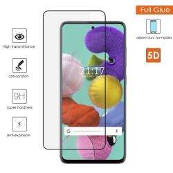Protector Cristal Templado Completo 5D Full Glue Negro para Samsung Galaxy A51 Vidrio