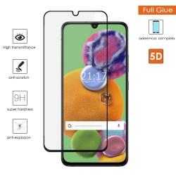 Protector Cristal Templado Completo 5D Full Glue Negro para Samsung Galaxy A90 5G Vidrio