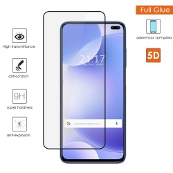 Protector Cristal Templado Completo 5D Full Glue Negro para Xiaomi Pocophone POCO X2 Vidrio