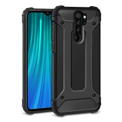 Funda Tipo Hybrid Tough Armor (Pc+Tpu) Negra para Xiaomi Redmi Note 8 Pro