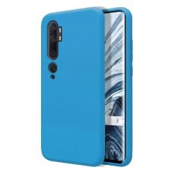 Funda Silicona Líquida Ultra Suave para Xiaomi Mi Note 10 color Azul