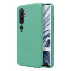 Funda Silicona Líquida Ultra Suave para Xiaomi Mi Note 10 color Verde