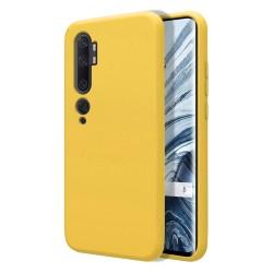 Funda Silicona Líquida Ultra Suave para Xiaomi Mi Note 10 color Amarilla