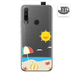 Funda Gel Transparente para Huawei Honor 9X diseño Playa Dibujos