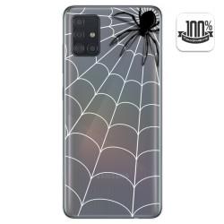 Funda Gel Transparente para Samsung Galaxy A51 diseño Araña Dibujos