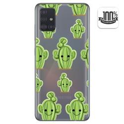 Funda Gel Transparente para Samsung Galaxy A51 diseño Cactus Dibujos