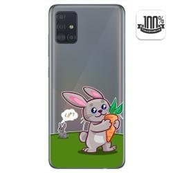 Funda Gel Transparente para Samsung Galaxy A51 diseño Conejo Dibujos