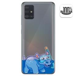 Funda Gel Transparente para Samsung Galaxy A51 diseño Hipo Dibujos