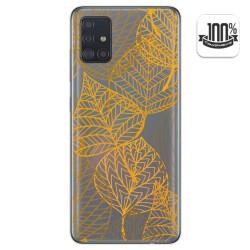 Funda Gel Transparente para Samsung Galaxy A51 diseño Hojas Dibujos