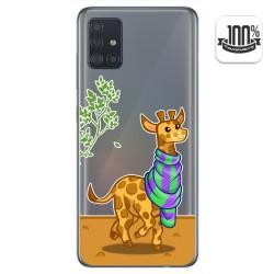 Funda Gel Transparente para Samsung Galaxy A51 diseño Jirafa Dibujos