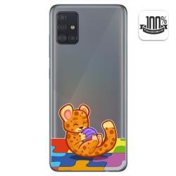Funda Gel Transparente para Samsung Galaxy A51 diseño Leopardo Dibujos