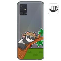 Funda Gel Transparente para Samsung Galaxy A51 diseño Panda Dibujos