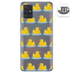 Funda Gel Transparente para Samsung Galaxy A51 diseño Pato Dibujos