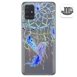 Funda Gel Transparente para Samsung Galaxy A51 diseño Plumas Dibujos