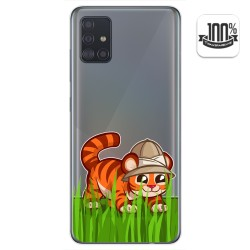 Funda Gel Transparente para Samsung Galaxy A51 diseño Tigre Dibujos