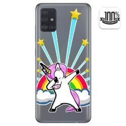 Funda Gel Transparente para Samsung Galaxy A51 diseño Unicornio Dibujos