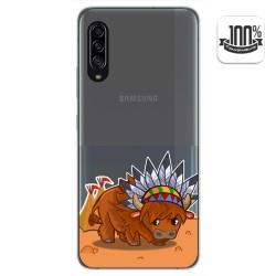 Funda Gel Transparente para Samsung Galaxy A90 5G diseño Bufalo Dibujos