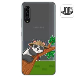 Funda Gel Transparente para Samsung Galaxy A90 5G diseño Panda Dibujos