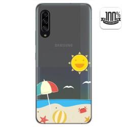 Funda Gel Transparente para Samsung Galaxy A90 5G diseño Playa Dibujos