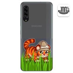 Funda Gel Transparente para Samsung Galaxy A90 5G diseño Tigre Dibujos
