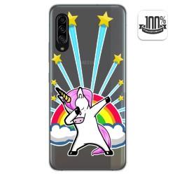 Funda Gel Transparente para Samsung Galaxy A90 5G diseño Unicornio Dibujos