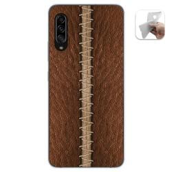 Funda Gel Tpu para Samsung Galaxy A90 5G diseño Cuero 01 Dibujos