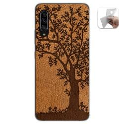 Funda Gel Tpu para Samsung Galaxy A90 5G diseño Cuero 03 Dibujos