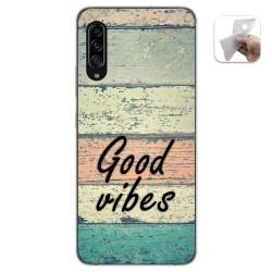 Funda Gel Tpu para Samsung Galaxy A90 5G diseño Madera 01 Dibujos