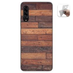 Funda Gel Tpu para Samsung Galaxy A90 5G diseño Madera 03 Dibujos