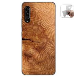 Funda Gel Tpu para Samsung Galaxy A90 5G diseño Madera 04 Dibujos