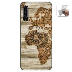 Funda Gel Tpu para Samsung Galaxy A90 5G diseño Madera 07 Dibujos
