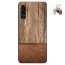 Funda Gel Tpu para Samsung Galaxy A90 5G diseño Madera 09 Dibujos