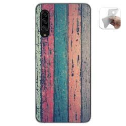 Funda Gel Tpu para Samsung Galaxy A90 5G diseño Madera 10 Dibujos