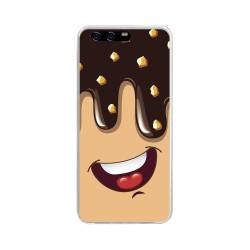 Funda Gel Tpu para Huawei P10 Diseño Helado Chocolate Dibujos