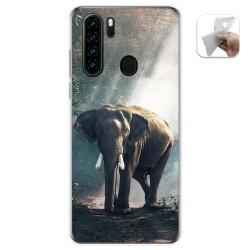 Funda Gel Tpu para Blackview A80 Pro diseño Elefante Dibujos