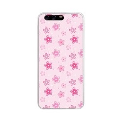 Funda Gel Tpu para Huawei P10 Diseño Flores Dibujos
