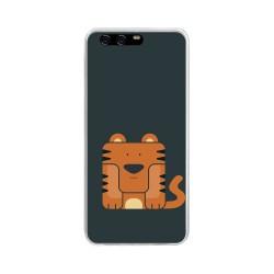 Funda Gel Tpu para Huawei P10 Diseño Tigre Dibujos