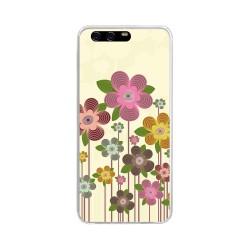 Funda Gel Tpu para Huawei P10 Diseño Primavera En Flor Dibujos