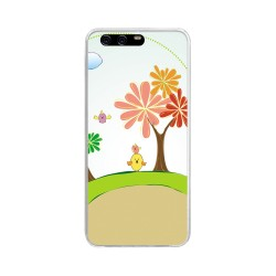 Funda Gel Tpu para Huawei P10 Diseño Primavera Dibujos