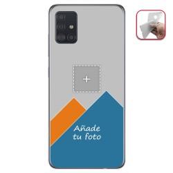 Personaliza tu Funda Gel Mate con tu Fotografia para Samsung Galaxy A51 dibujo personalizada