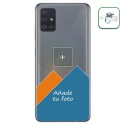Personaliza tu Funda Pc + Tpu 360 con tu Fotografia para Samsung Galaxy A51 dibujo personalizada