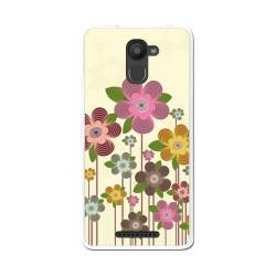 Funda Gel Tpu para Bq Aquaris U Plus Diseño Primavera En Flor Dibujos